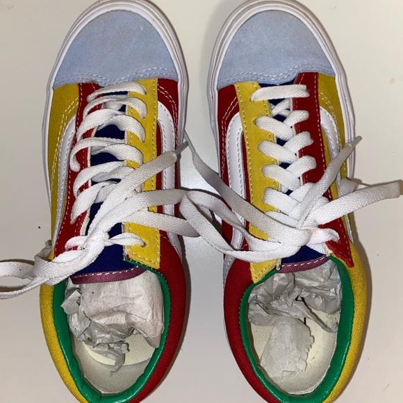vans colourful kids shoes